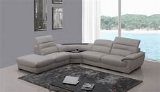 Sectional Sofa Grey 3d Image by Divani Casa Miracle Modern Light Grey Italian Leather