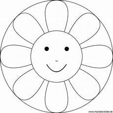 kinder mandala blume mit einem gesicht