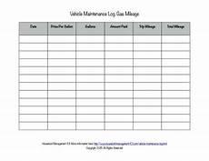Gas Mileage Chart Free Printable Vehicle Maintenance Log Why You Should