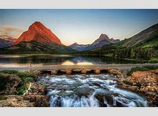 Red Mountain Glacier National Park   HD Nature Wallpapers