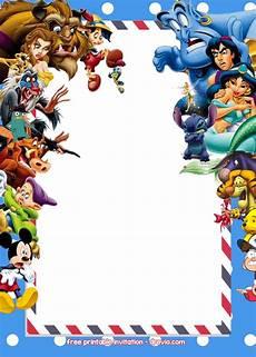 Disney Themed Party Invitations Free Disney Invitations Templates Drevio