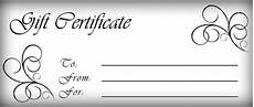 Gift Certificates Blanks Gift Certificates Templates Free Printable Gift