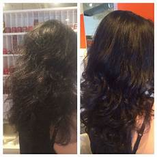 before and after kerastase discipline treatment hair