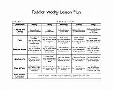 Printable Toddler Lesson Plans 8 Toddler Lesson Plan Templates Pdf Word Excel Free