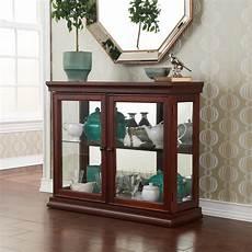 sei mahogany curio cabinet with