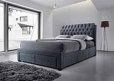 artisan front drawer 4ft 6 fabric bedframe grey
