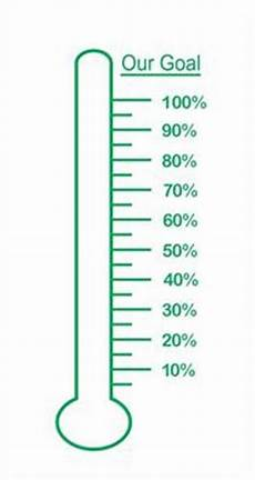 Fundraising Goal Thermometers Fundraising Goal Thermometer Vinyl Decal Perfect For Dry