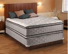 plush king size pillowtop mattress and box