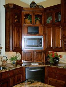 kitchen corner cabinet with clever storage systems inside