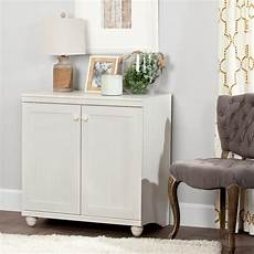 south shore hopedale white wash 2 door storage cabinet