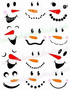 Snowman Faces Clip Art Snowman Faces Svg Snowmen Svg Winter By Cardsandstitches