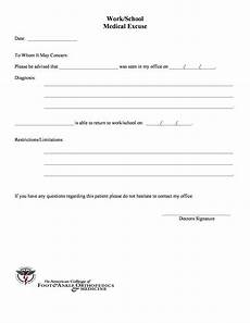 Return To Work Note Template 25 Free Doctor Note Excuse Templates Template Lab