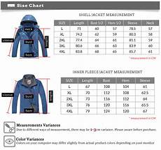 Mens Jacket Size Chart Men S Waterproof 3 In 1 Hiking Jacket Inner Fleece Jacket