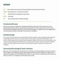 Strategy Memo Example 13 Strategy Memo Templates Sample Word Google Docs