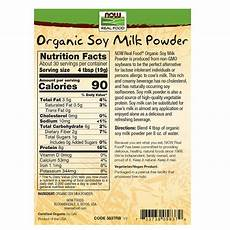 Soy Milk Light Nutritional Information Galleon Now Foods Organic Soy Milk Powder 20 Oz