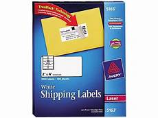 Avery Shipping Labels 5163 Avery White Shipping Labels With Trueblock Technology For
