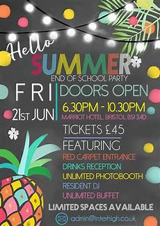 Summer Party Invite Interhigh S Summer Party 2019 Interhigh School