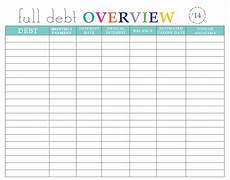 Debt Organizer Template Paying Off Debt Worksheets