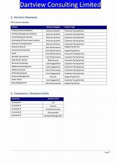 Service Catalogue Template Itil Service Catalogue Template
