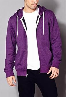 Light Purple Hoodie Mens Forever 21 Static Hoodie In Purple For Men Purple Black