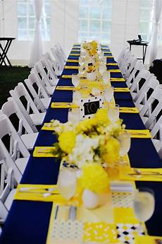 navy and yellow reception decor elizabeth s wedding