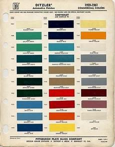 1958 Impala Color Chart 1959 Chevrolet Paint Color Code Chart 1959 Apache Paint
