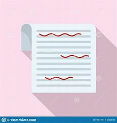Paper Proofread Paper Proofread Icon Flat Style Stock Vector