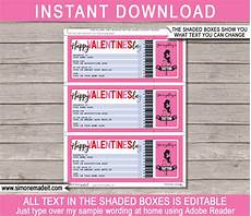 Diy Voucher Template Printable S Day Gift Voucher Template
