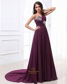 purple one shoulder prom dress purple dress with