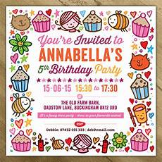 Party Invation Childrens Party Invitations By A Is For Alphabet