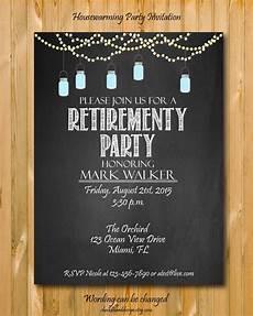 Retirement Invites Free Printable Retirement Invitation Custom Invite Chalkboard