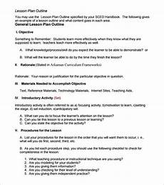 Outline Lesson Plan Example Lesson Plan Outline Template 10 Free Free Word Pdf