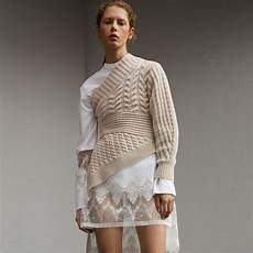 knit fashion burberry one shoulder knit sweater fall shopping guide
