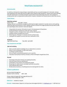 Retail Job Skills Retail Sales Assistant Cv
