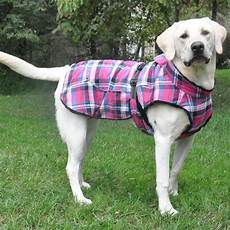 dogs coats plaid faux fur lined winter coat with harness opening