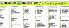 Typical Grocery List A Better Grocery List Nj News Day