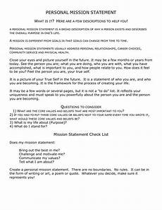 Examples Of Personal Mission Statements For Career 4 Free Mission Statement Templates Word Excel Sheet Pdf
