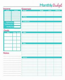 Budgetting Template Free Printable Monthly Budget Planner Template Monthly