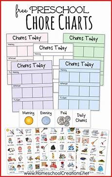 To Do Chart For Toddlers Free Preschool Chore Chart System Free Homeschool Deals