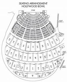 Hollywood Bowl Terrace Seating Chart Seating Chart Hollywood Bowl Tips
