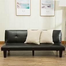 leather futon belleze 69 quot leather faux fold futon lounge