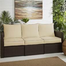 6 piped indoor outdoor sunbrella sofa cushion set