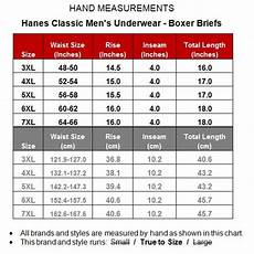Big And Size Chart Pants Hanes Big Amp Men S 3 Pack Boxer Briefs