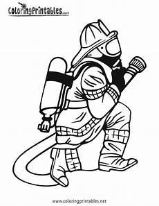 ausmalbilder feuerwehr atemschutz kinder zeichnen und