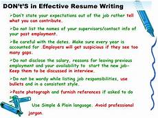 Writing An Effective Resumes Effective Resume Writing