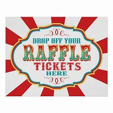 Raffle Ticket Signs Carnival Or Circus Raffle Ticket Sign Zazzle Co Uk