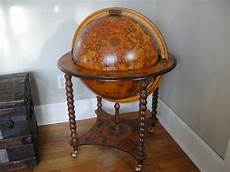 cocktail bar globe 1970 rotating 1578 antique reproduction