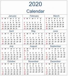 Download Yearly Calendar 2020 Free Printable Yearly 2020 Calendar Template Free Download