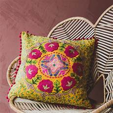 medium mustard velvet boho cushion with images boho