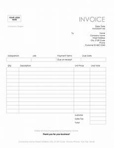 Simple Billing Invoice Service Invoice Simple Lines Design